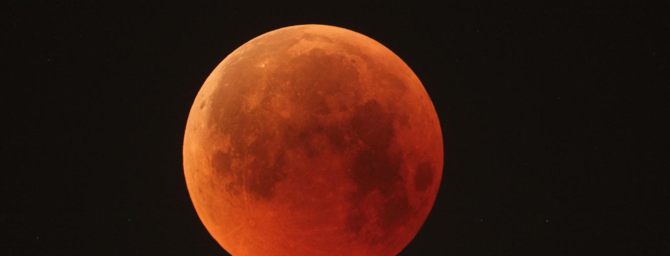 Eclipse total da Lua no dia 21 de janeiro
